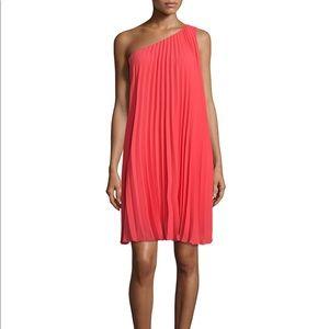 Trina Turk Skyla One Shoulder Pleated Dress Small
